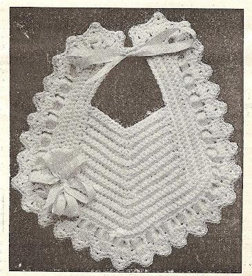Little Grey Bungalow Crochet A Bib From 1915