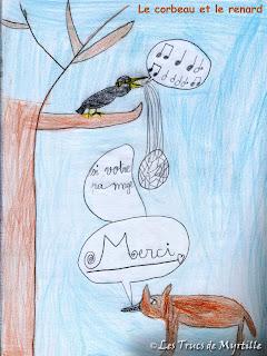 Les Trucs De Myrtille Le Corbeau Et Le Renard Dimanche Poétique