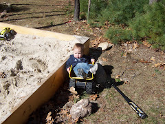 colton hanging out in a dump truck