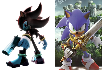 One Duck's Opinion: Shadow with a gun, Sonic with a sword ...