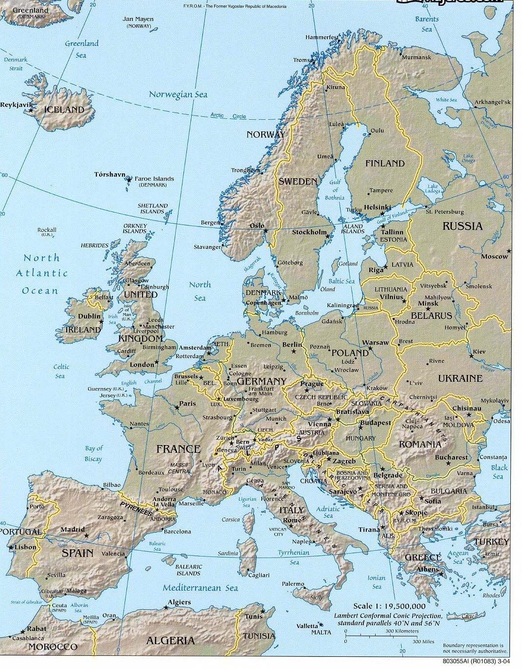 Cartina Sicilia Fisico Politica.Spagna Cartina Politica Muta