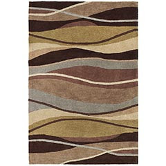 Pier 1 Imports Blue and Brown wavy rug