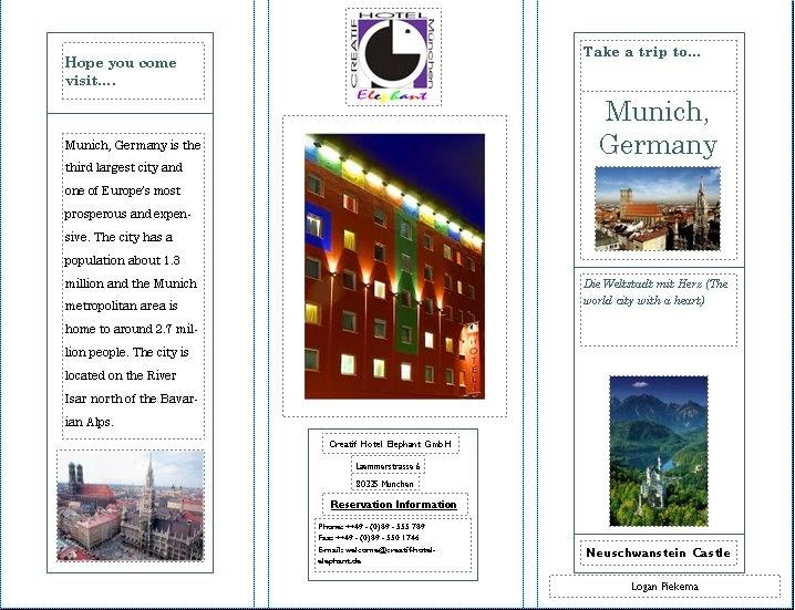 Logan S Travel Blog Munich Germany Brochure