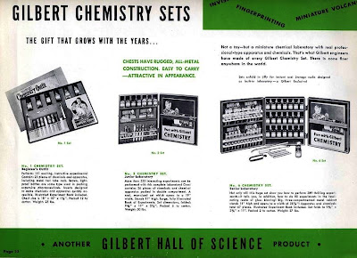 Gilbert chemistry sets