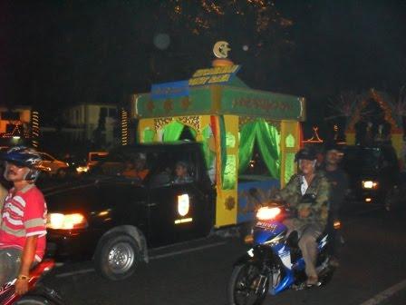 Suasana Malam Takbiran di Kota Pekanbaru