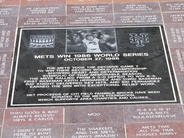 NY Mets Fanwalk Brick Sid Fernandez Error