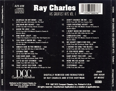 all that music pop ray charles his greatest hits vol