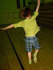 Ian flying at the sock hop