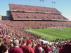 "Maroon Out Game, Aggies vs. t.u., Kyle Field. ""12th Man"" on their feet."