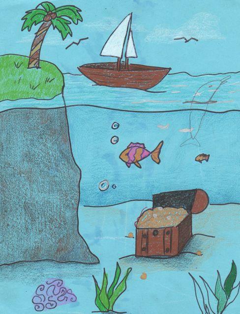 Sea Floor Drawing : floor, drawing, Creator's, Surface,, Under