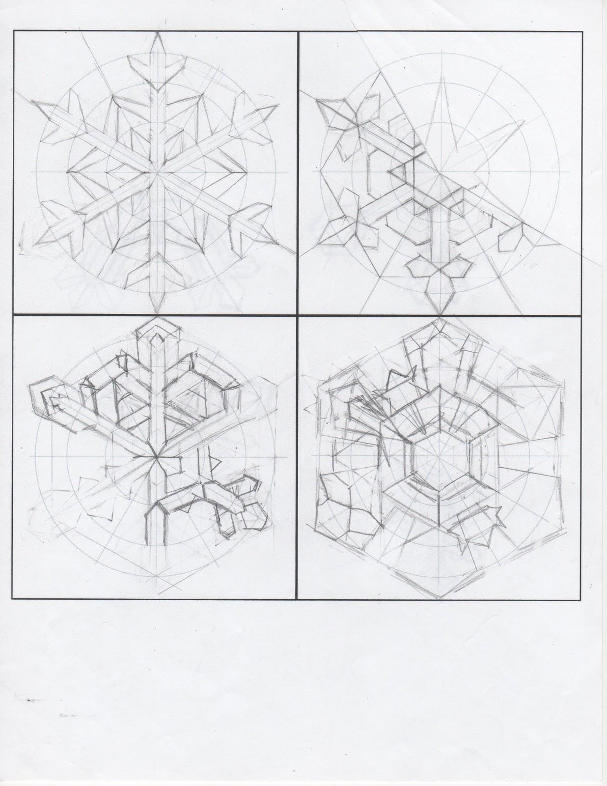 Creator S Joy Design Your Own Snowflake Printable Template