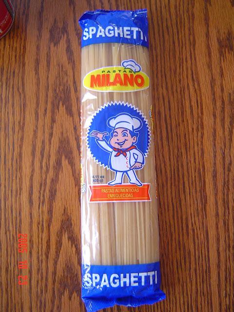 Espagueti Milano que crece y crece que llena la paila.