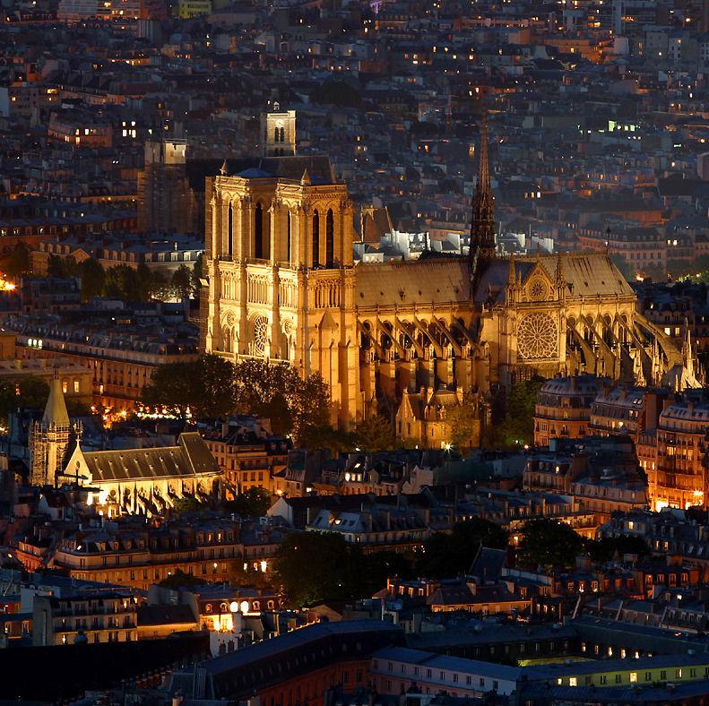 Notre Dame de Paris antes do incêndio de 15 de abril 2019