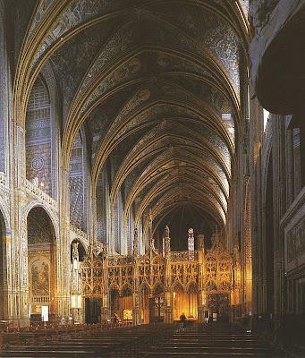 Nave central da catedral de Albi, França