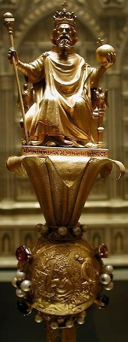 Carlos Magno em cetro de Carles VI, s XIV, As Cruzadas