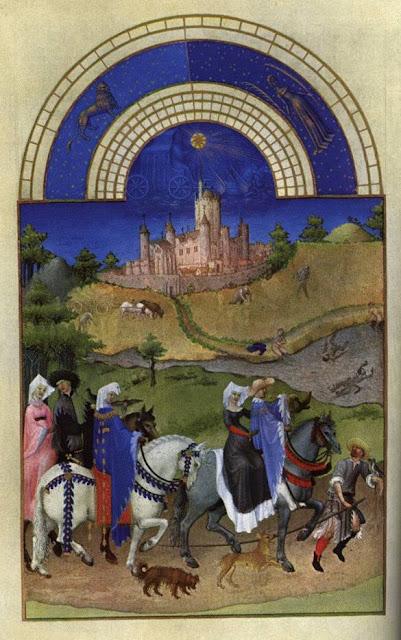 Très Riches Heures du Duc de Berry, mês de agosto