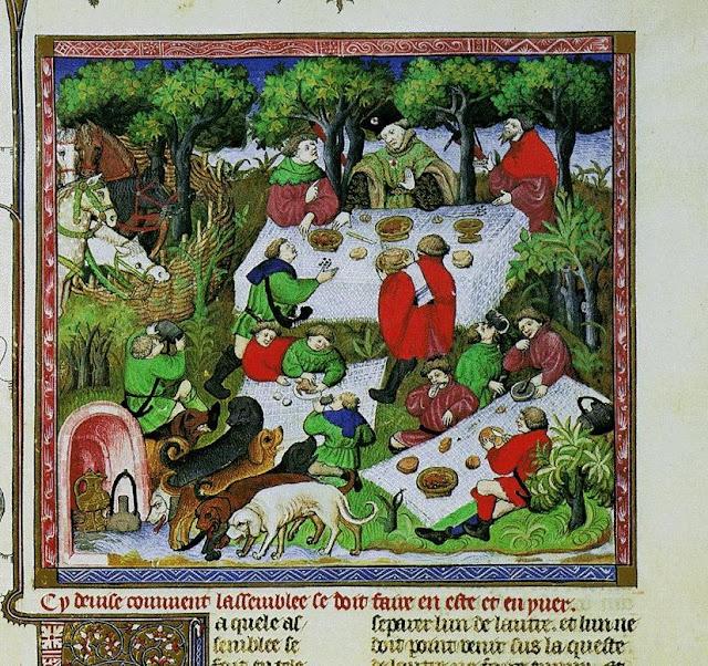 Livro da Caça, a refeição geral final, Gaston Phebus