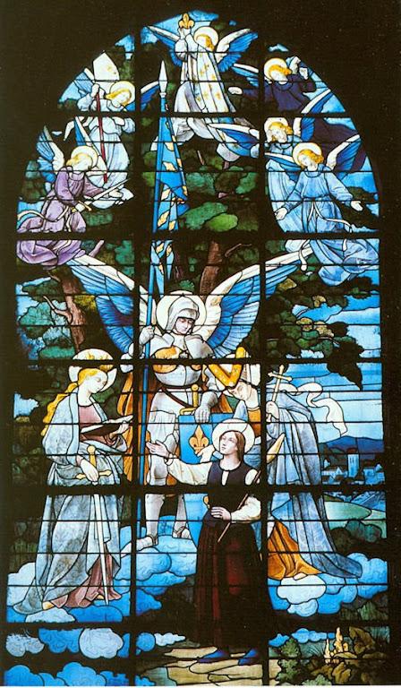 Santa Joane d'Arc recebe as vozes, St-Jacques de Compiègne, Herois medievais