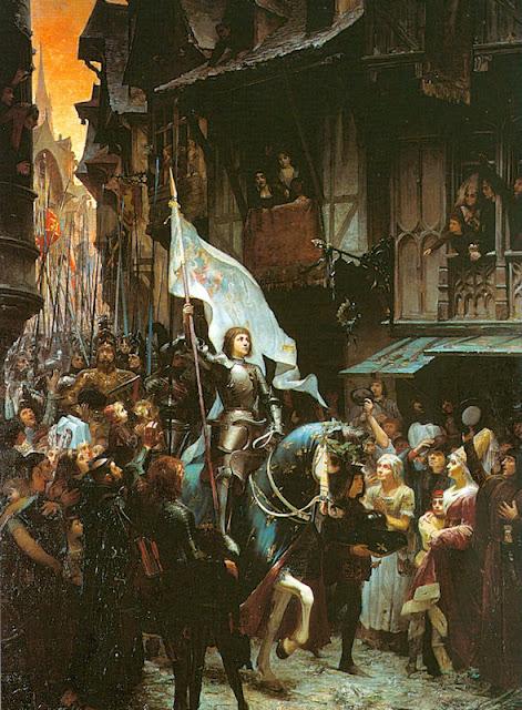 Santa Joana d'Arc, entrada em Orleans, Herois Medievais