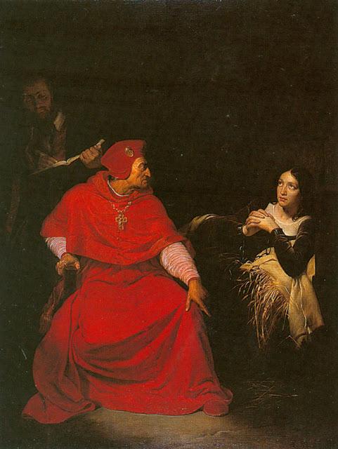 Santa Joana d'Arc,interrogada pelo cardeal de Winchester, Herois Medievais
