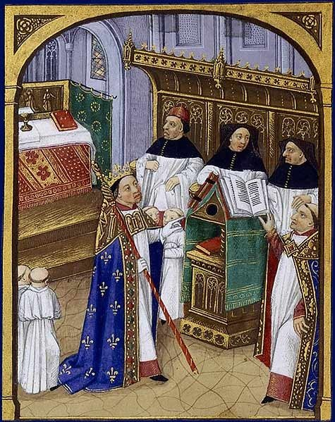 Roberto II o Piedoso, Grandes Chroniques de France, século XV, ©BNF