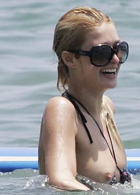 Paris Hilton Very Wet Nip Slip