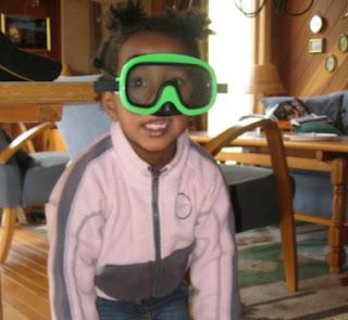 dykkermaske i et