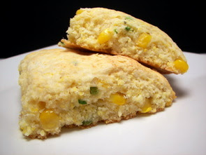 Cornmeal, Serrano and Fresh Corn Scones