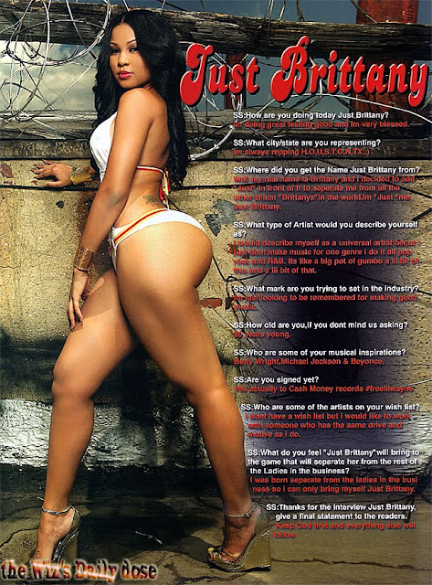 Just Brittany featured in Straight Stuntin Issue #13