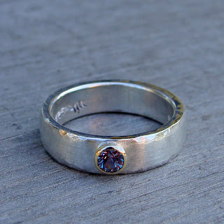 alexandrite wedding ring