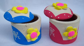 souvenir tempat perhiasan bentuk bulat motif bunga