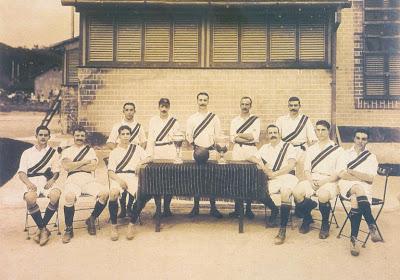 Time campeão carioca em 1908.