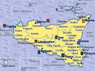 Cartina Sicilia Tindari.Un Mondo Di Favole La Carta Geografica Della Sicilia