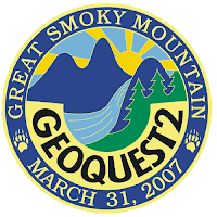 Artwork picture of the 2007 Smoky Mountain Geoquest Geocoin - front