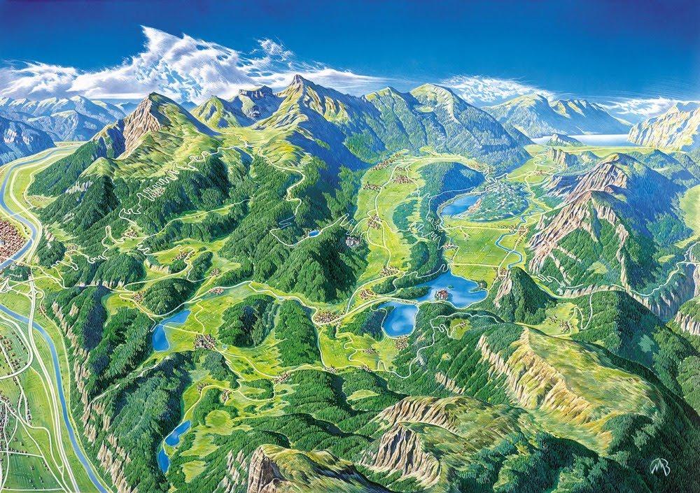Mauro berlanda plastigrafie cartografie dipinti for Disegni di laghi