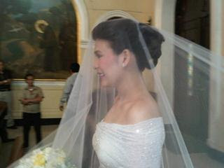 Roxanne Guinoo in her wedding gown