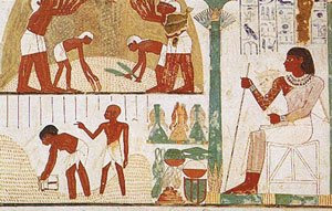 Agricultural scene from the tomb of Nakht