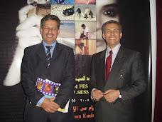 المؤسسان لمهرجان بغداد السينمائي : د.طاهر علوان و د.عمار العرادي