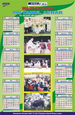 KAKI LANGIT: Desain Kalender tahunan 1