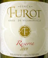 Finca Furot Vinyes de Vilamaniscle Reserva 2001, D.O. Empordà