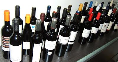 Mostra d'alguns dels vins del nostre mini celler