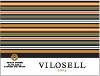 etiqueta Vilosell 2004, Tomàs Cusiné. D.O. Costers de Segre