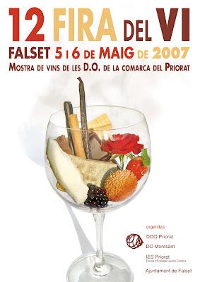 12 Fira del Vi de Falset, 5 i 6 de maig 2007. Mostra de vins de les D.O. de la Comarca del Priorat