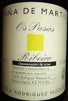 Etiqueta de Viña de Martín Os Pasás 2005, D.O. Ribeiro