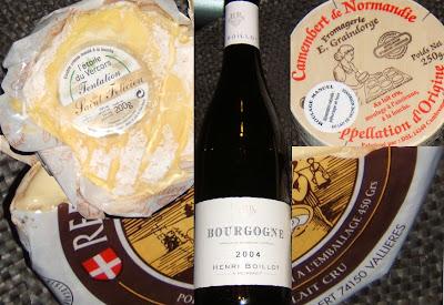 Henri Boillot 2004, Camembert, Reblochon y Tentation Saint Felicien
