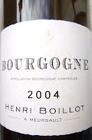 Henri Boillot 2004 Bourgogne A Mersault