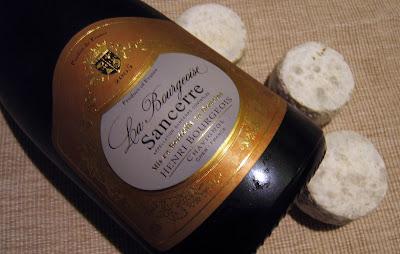 La Bourgeoise 2005 y tres piezas de Crottin de Chavignol