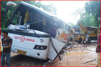 Indian Luxury Buses: KSRTC's Volvo's major accident