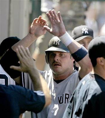 Jason Giambi and his porn mustache