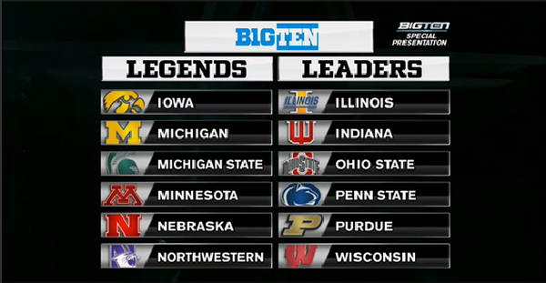 Big Ten Unveils Their New Logo And Divisions